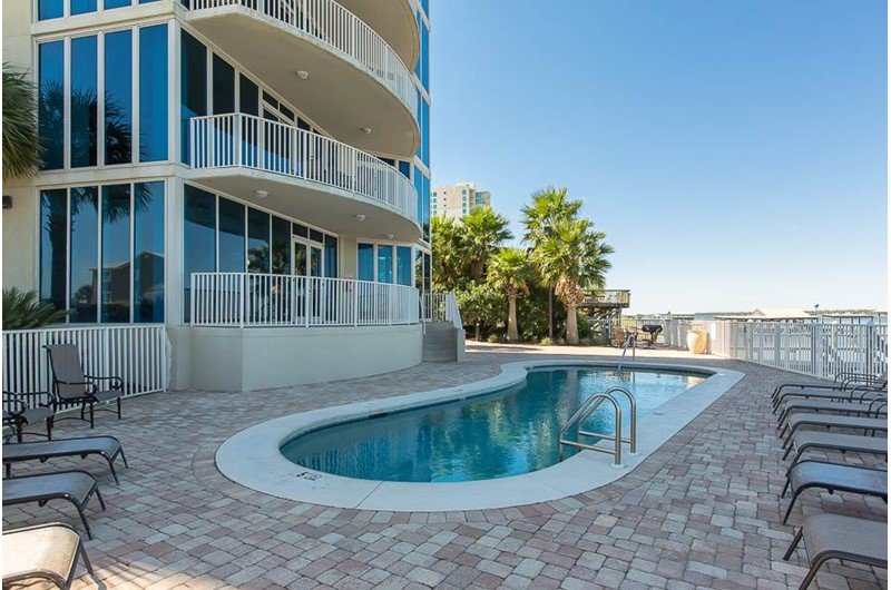 Pool at Lagoon Tower in Gulf Shores Alabama