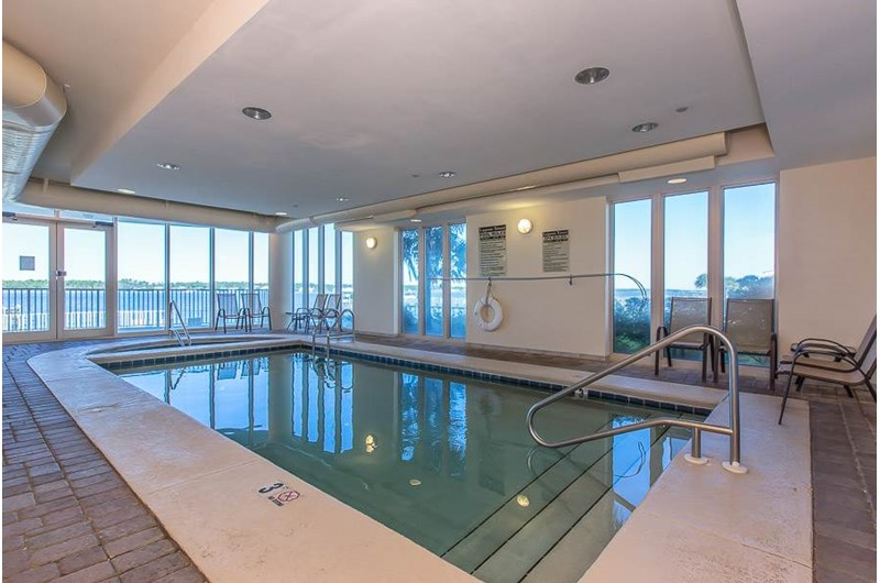 Indoor pool at Lagoon Tower in Gulf Shores Alabama