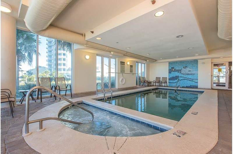 Nice indoor pool at Lagoon Tower in Gulf Shores Alabama