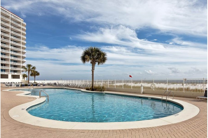 Beachfront swimming pool at the Lighthouse Gulf Shores