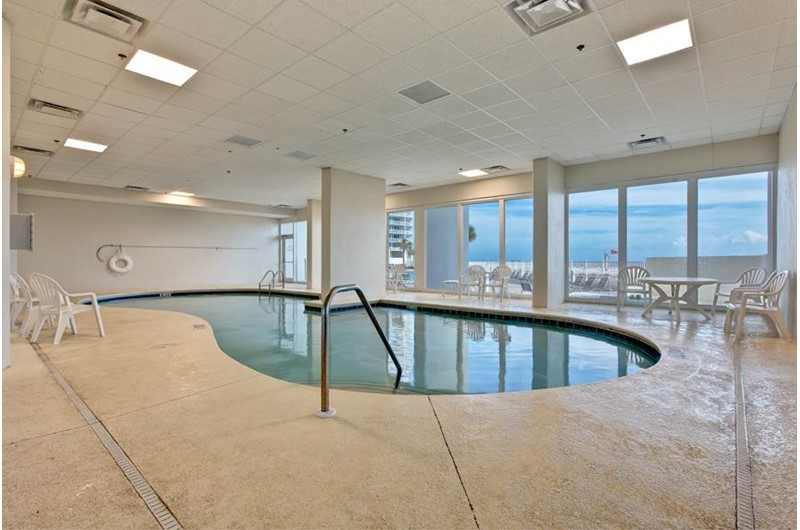 You can swim year-round in the indoor pool at the Lighthouse Gulf Shores.