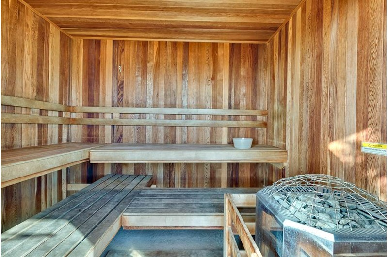 Prepare to relax and pamper yourself in the  sauna at the Lighthouse Gulf Shores.