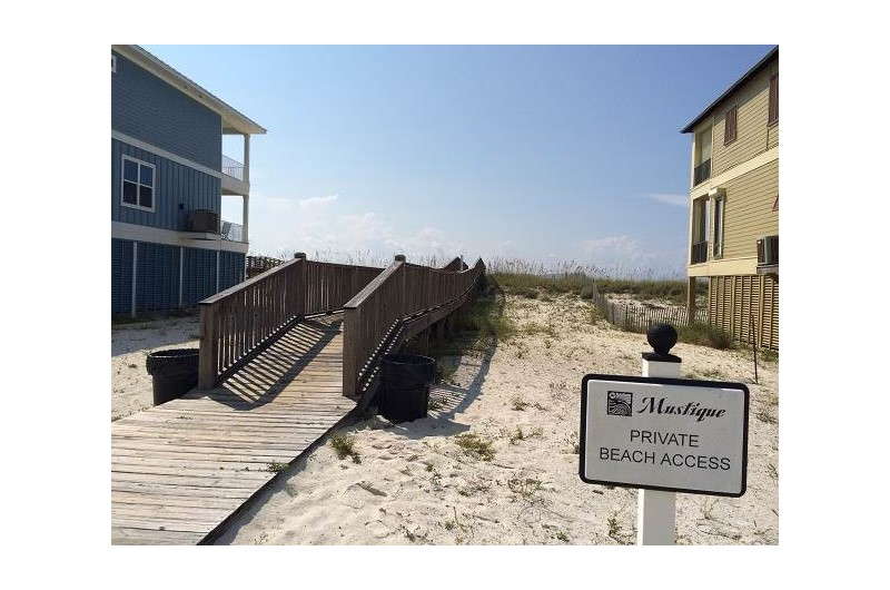 Beach access at Mustique in Gulf Shores Alabama