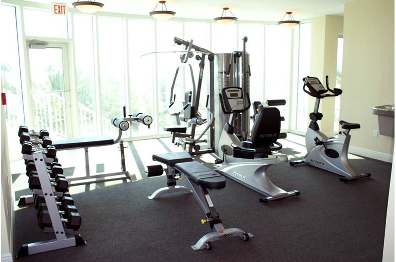 Workout room at Mustique in Gulf Shores Alabama
