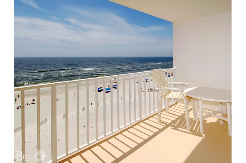 You'll be tempted to spend hours relaxing on your private balcony at Ocean House Gulf Shores.