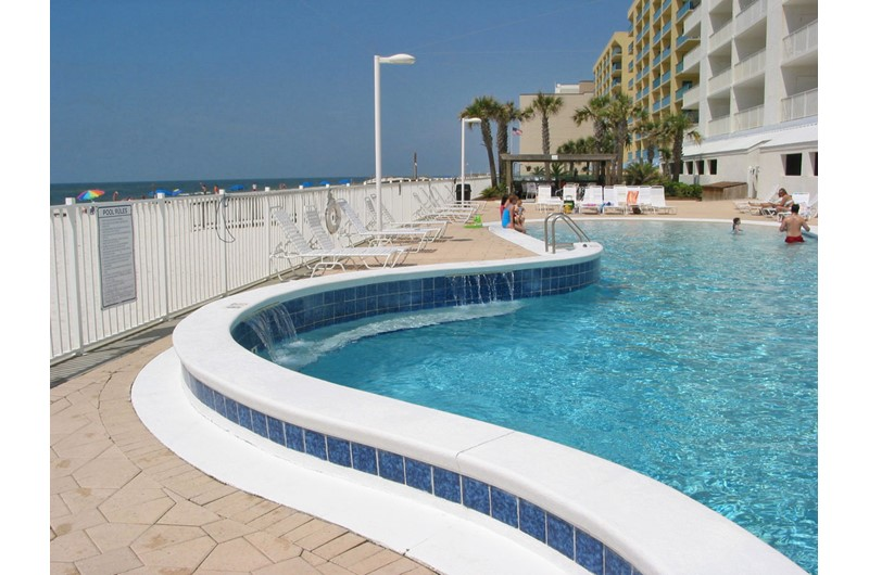 A closeup view of the gorgeous pool at Ocean House Gulf Shores