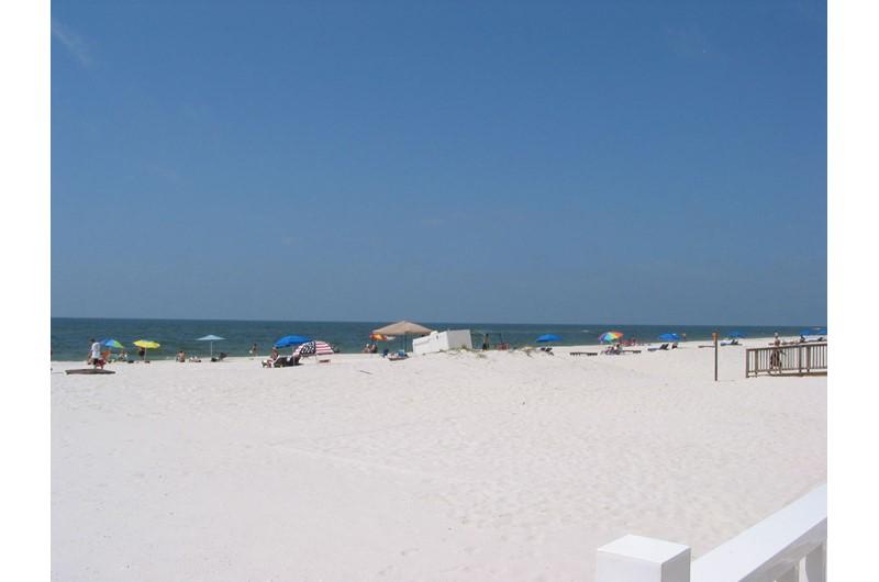 Private white-sand beach at Ocean House Gulf Shores