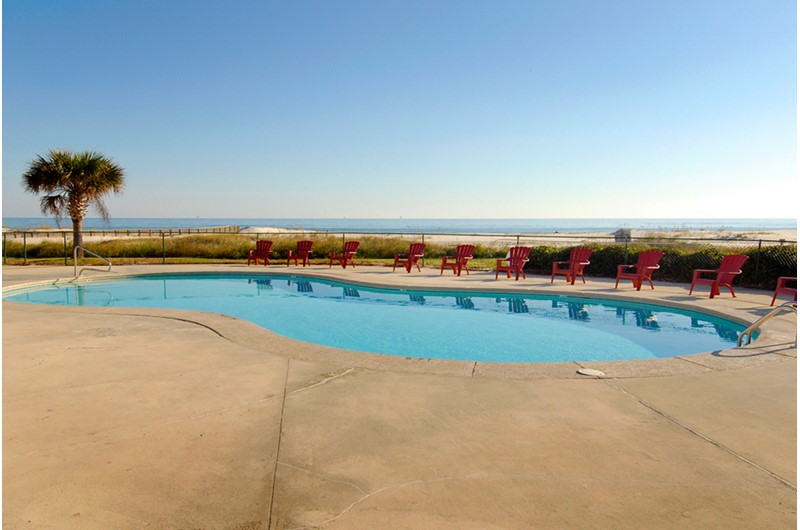 Great Gulf front pool at Plantation Palms in Gulf Shores Alabama