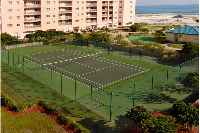 Tennis court at Plantation Palms in Gulf Shores Alabama