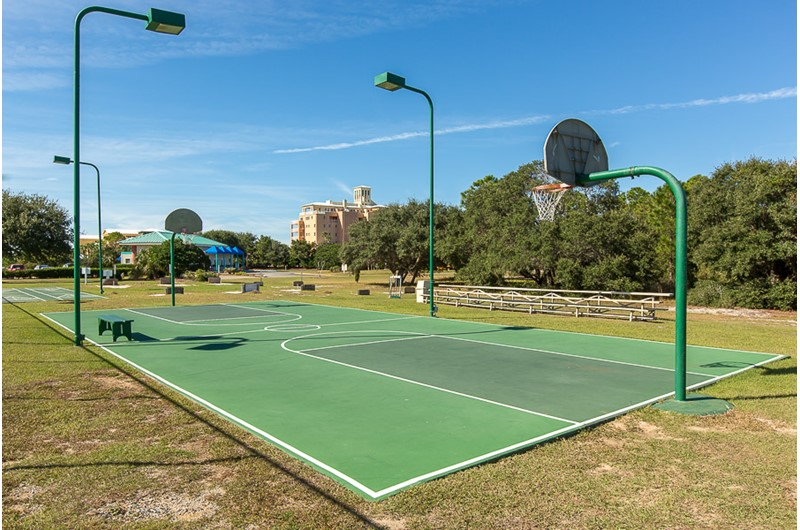 Basketball court at Plantation Palms in Gulf Shores Alabama
