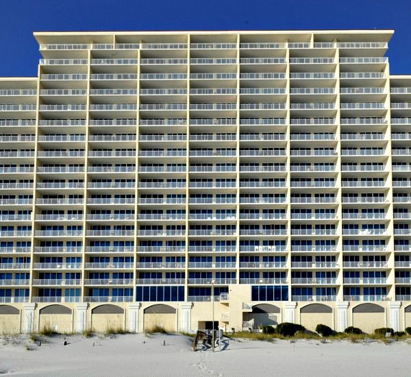Exterior view from the beach at San Carlos Gulf Shores