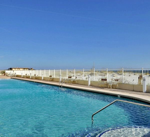 Relax by the beach front pool at San Carlos Gulf Shores Alabama