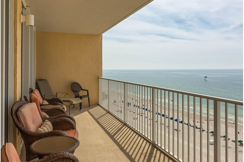 Lovely view from your balcony at San Carlos in Gulf Shores Alabama