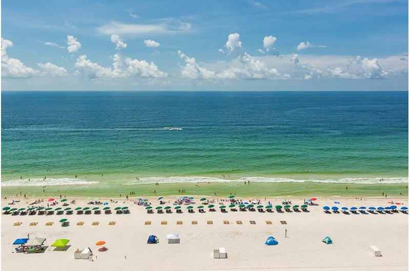 Beautiful view of the Gulf from San Carlos in Gulf Shores Alabama