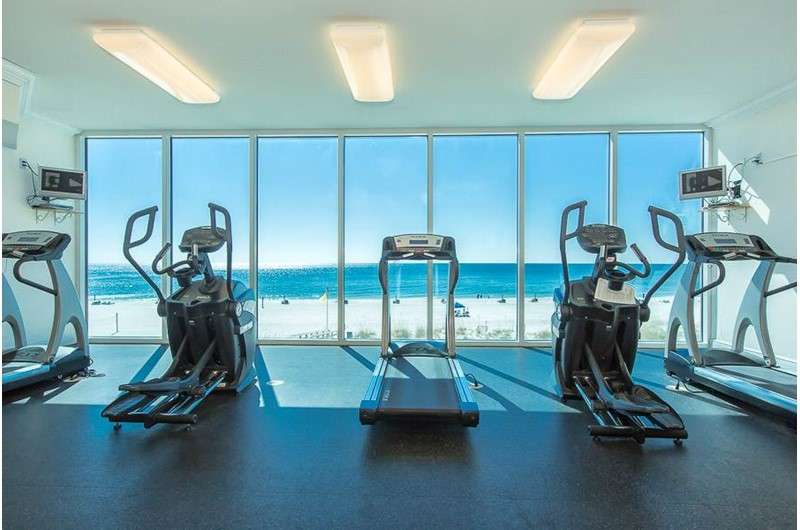 Gym with a view at San Carlos in Gulf Shores Alabama