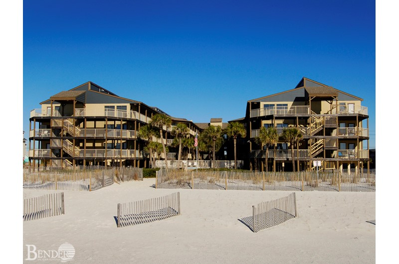 Sandpiper Condominiums are beachfront in Gulf Shores Alabama
