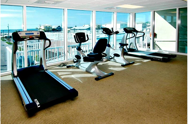 Fitness Center at Sanibel condominiums in Gulf Shores AL