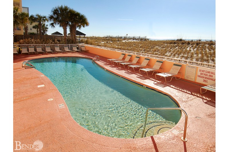 Take a dip in the pool at SeaCrest in Gulf Shores AL