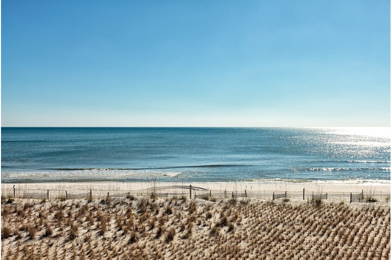 Lovely Gulf view from SeaCrest in Gulf Shores Alabama