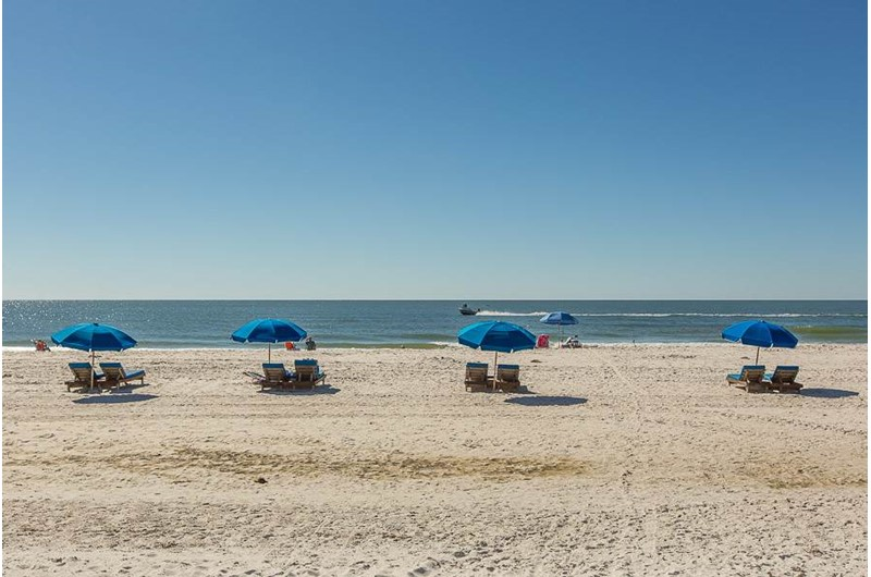Gulf is right in front of SeaCrest in Gulf Shores Alabama