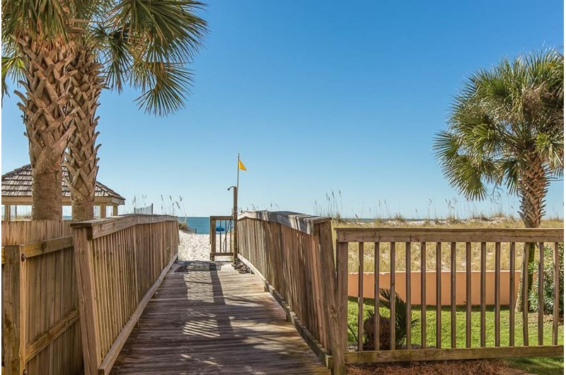 Easy access to the beach from SeaCrest in Gulf Shores Alabama