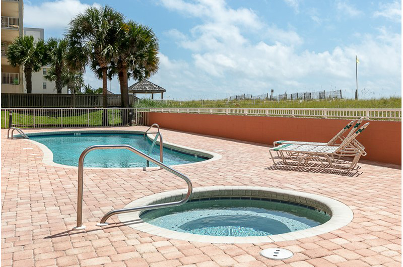 You can't go wrong with your choice of the pool or hot tub at SeaCrest in Gulf Shores AL