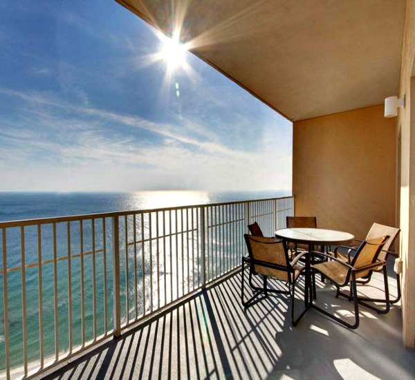 Gulf front balcony view at Seawind Gulf Shores AL