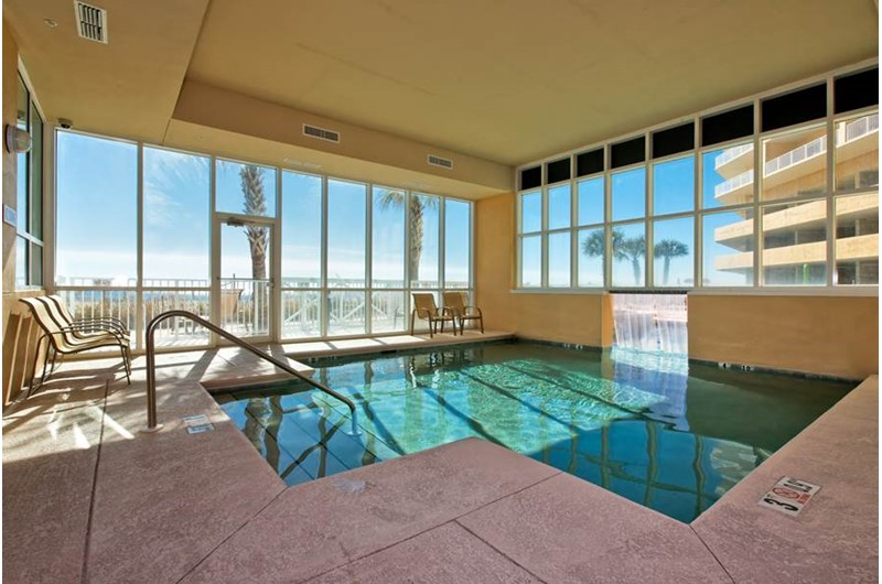 Wonderful indoor pool at Seawind in Gulf Shores Alabama
