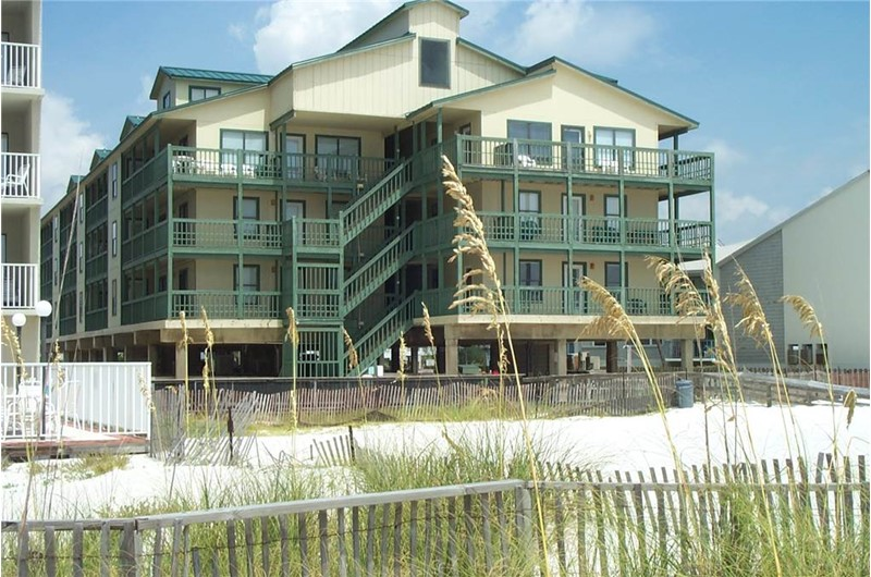 Sundial is located directly on the beach in Gulf Shores AL