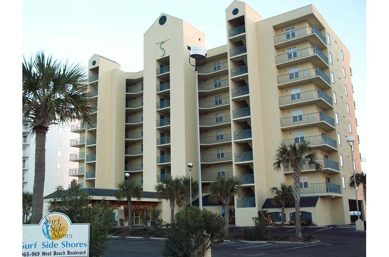 Exterior view from the street at Surfside Shores Gulf Shores