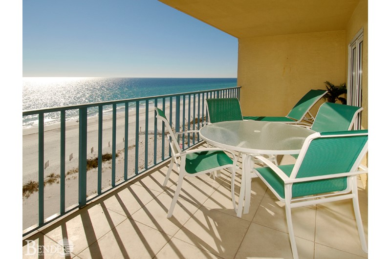 Enjoy a quiet moment on your balcony at Surfside Shores Gulf Shores.