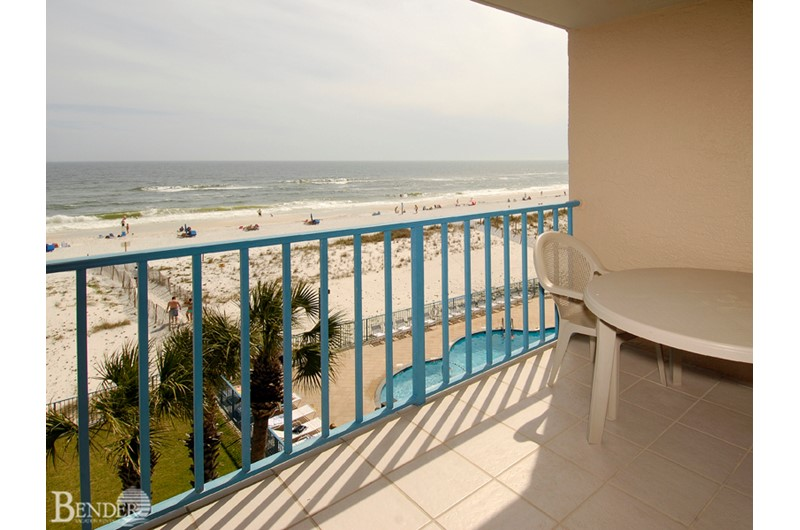 Panoramic view from one of the private balconies at Surfside Shores Gulf Shores