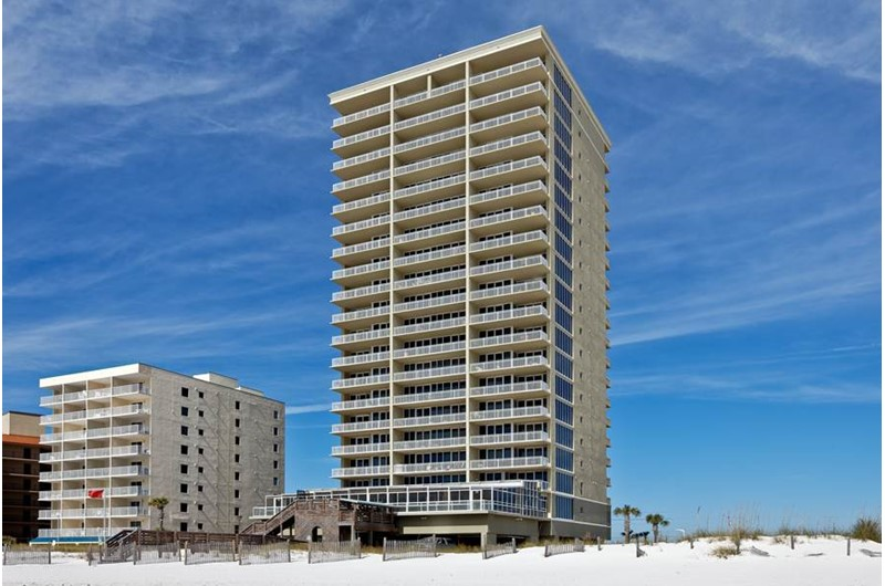 The Colonnades are on the beach in Gulf Shores Alabama