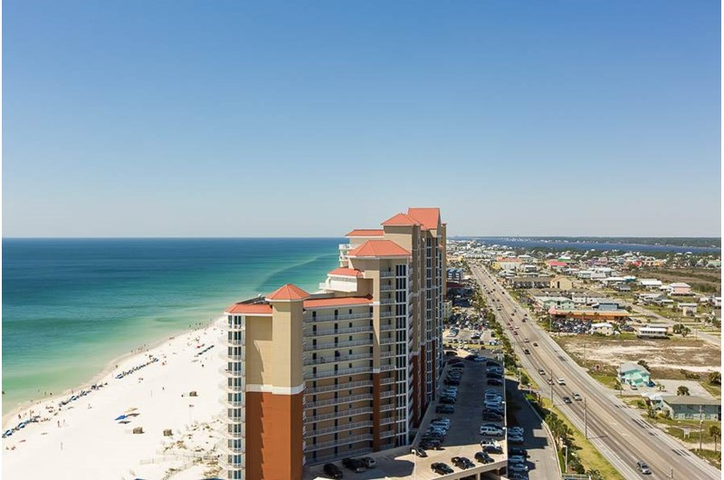 Beautiful Gulf view from The Colonnades in Gulf Shores Alabama