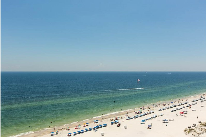 Gorgeous view of the Gulf from The Colonnades in Gulf Shores Alabama