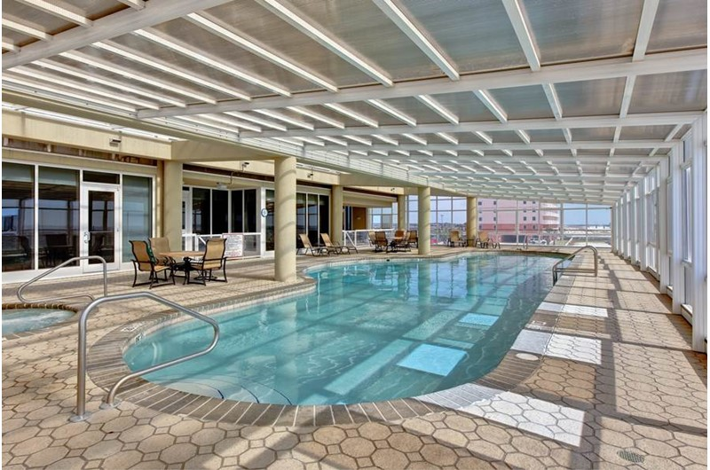 Spacious indoor pool at The Colonnades in Gulf Shores Alabama