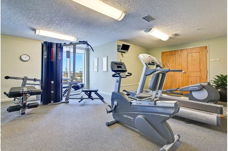 Nice gym at The Colonnades in Gulf Shores Alabama