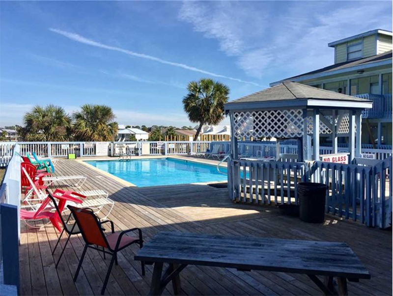 Plenty of room to lounge by the pool at The Cove in Gulf Shores Alabama