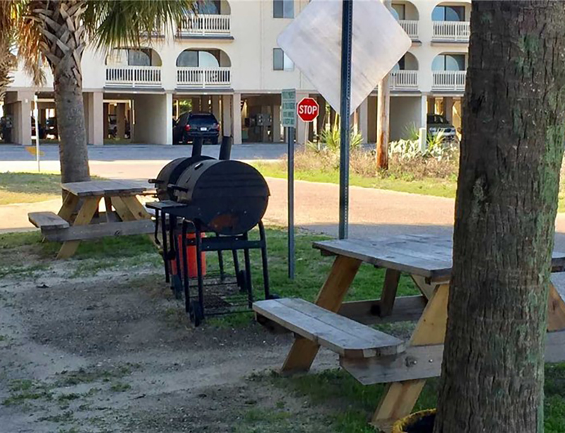 Prepare your catch of the day in the grill area at The Cove in Gulf Shores Alabama