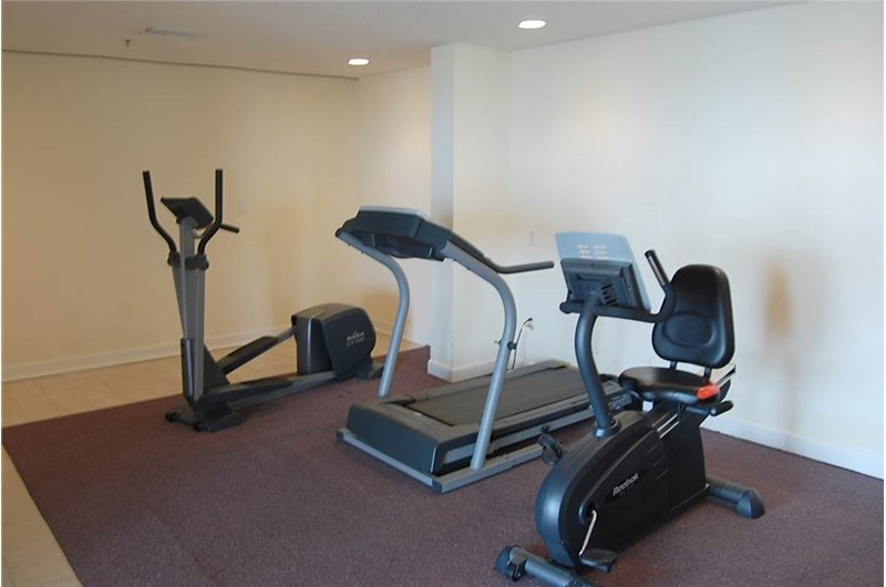 Fitness equipment at Tropical Winds Gulf Shores AL makes it easy to stay in shape even on vacation.