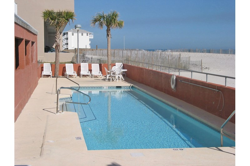 Take a refreshing dip in the pool at Westwind Condominiums in Gulf Shores AL