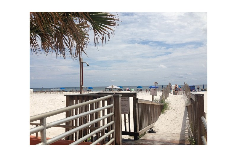 Easy access to the beach from Westwinds in Gulf Shores Alabama