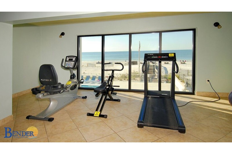 Gulf Tower work out room in Gulf Shores Alabama