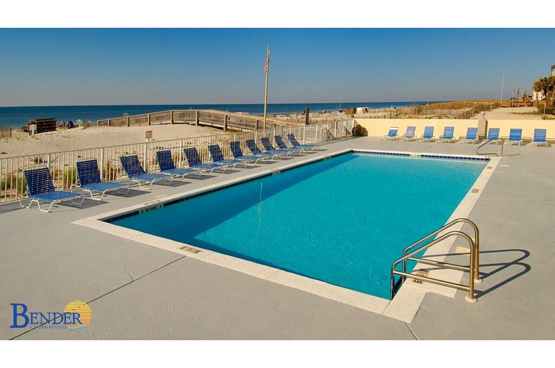 Gulf Towers large pool in Gulf Shores Alabama