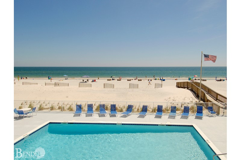 Lovely pool area at Gulf Tower Condos in Gulf Shores AL