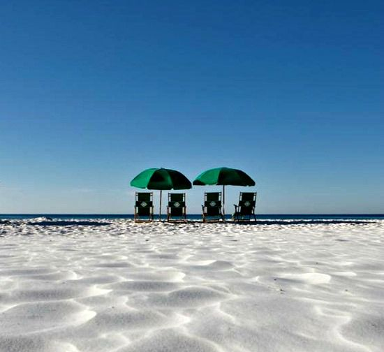Private beach at Hidden Dunes  in Destin Florida
