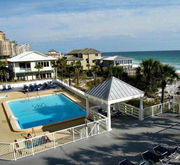 One of the four swimming pools at Hidden Dunes  in Destin Florida