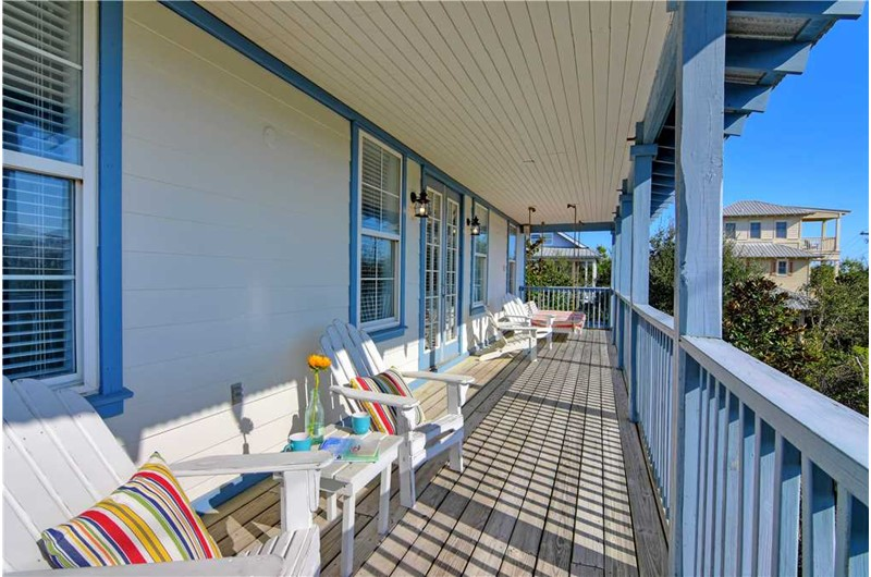 Relax on the porch at a Seagrove Beach House Rentals Seagrove Beach FL