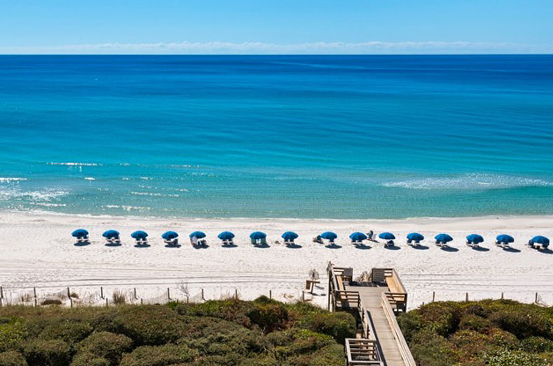Enjoy views of the azure waters at Beachcrest in Seagrove Beach Florida