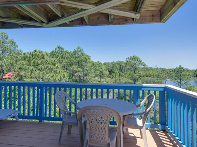 Tropical view from your balcony at Beachfront II in Seagrove Beach Florida